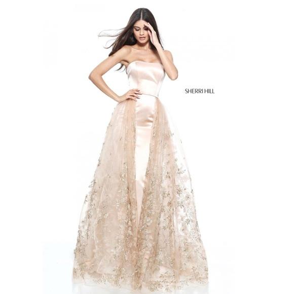 Sherri Hill Dresses   Rose Gold Nude Prom Dress 51244   Poshmark